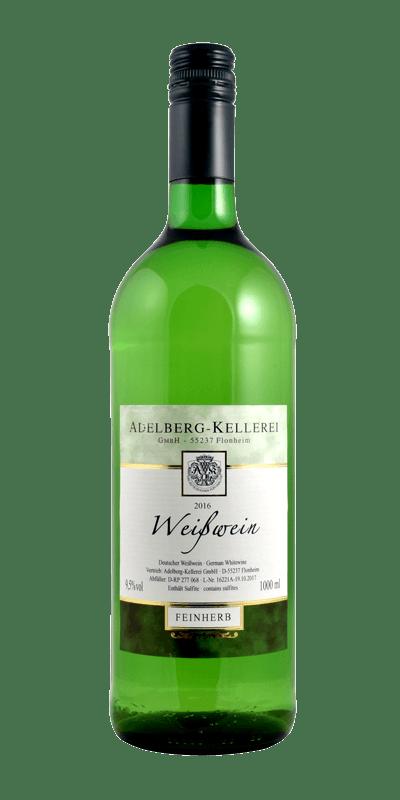 Deutscher Weiswein Feinherb, 1 L